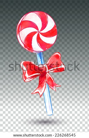 Candy. Watercolor art. Vector illustration. Isolated. - stock vector