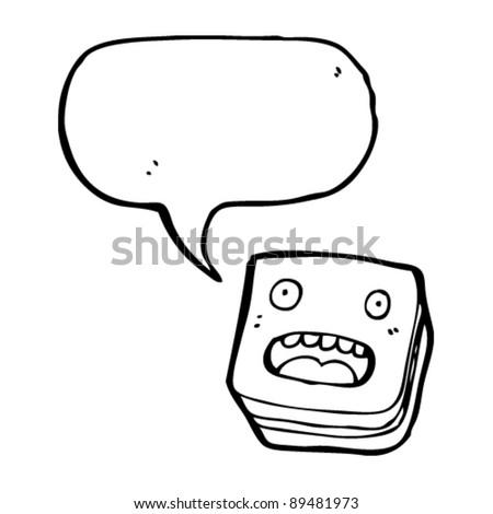 candy with face cartoon - stock vector