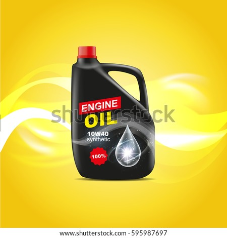 Canister Engine Oil Design Advertising Template Stock Vector ...