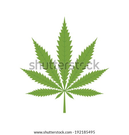 Cannabis leaf icon - Vector