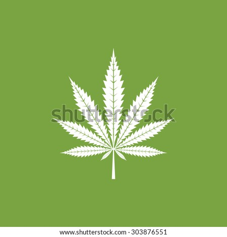 Cannabis leaf icon - Vector - stock vector