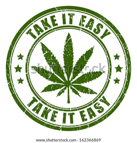 Cannabis rastaman vector stamp - stock vector