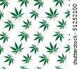 cannabis seamless pattern extended, abstract texture; vector art illustration - stock vector