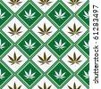 cannabis seamless texture, abstract pattern; vector art illustration - stock vector