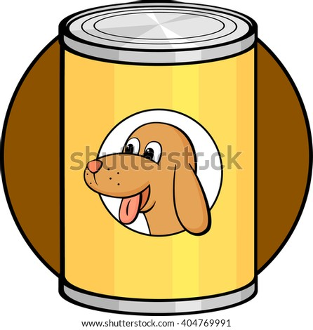 canned dog food stock vector 404769991 shutterstock rh shutterstock com dog eating food clipart Feed Dog Clip Art