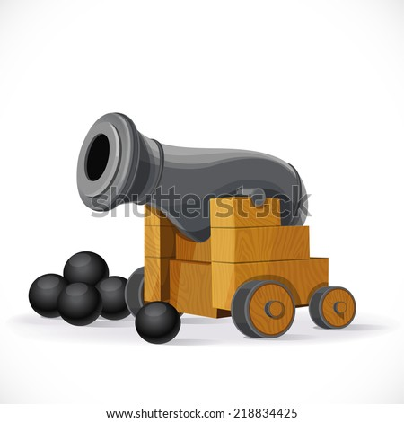 Cannon isolated on a white background - stock vector