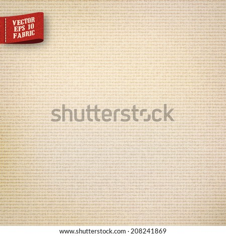 canvas jute fabric texture realistic in vector format - stock vector