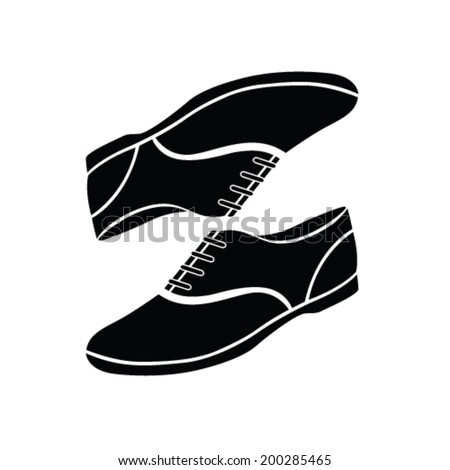 canvas shoes vector illustration - stock vector