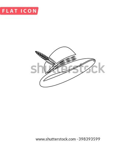 Cap Icon.  - stock vector