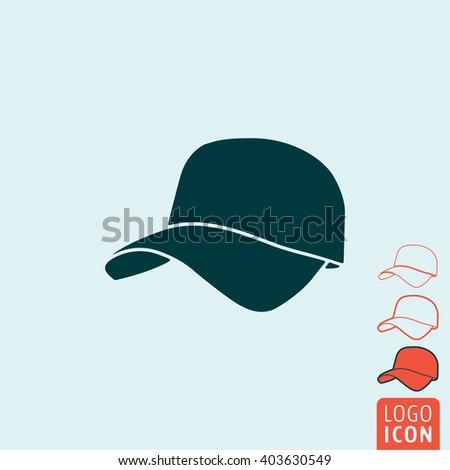 Cap icon. Baseball cap icon isolated. Vector illustration - stock vector