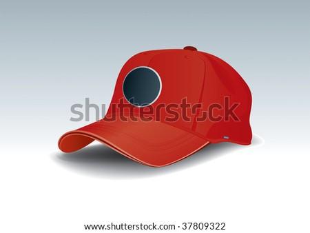 Cap vector drawing - stock vector