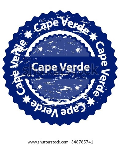 Cape Verde Country Grunge Stamp - stock vector