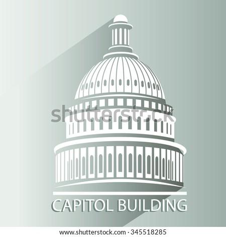 Capitol building - stock vector