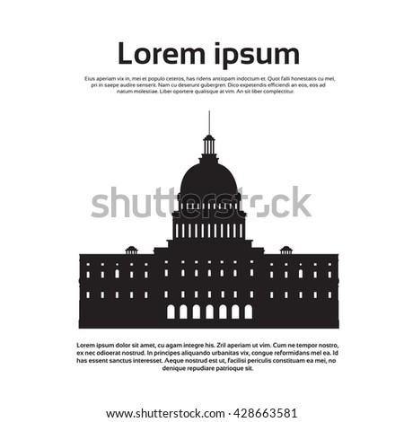 Capitol Building United States Of America Senate House Washington Vector Illustration - stock vector