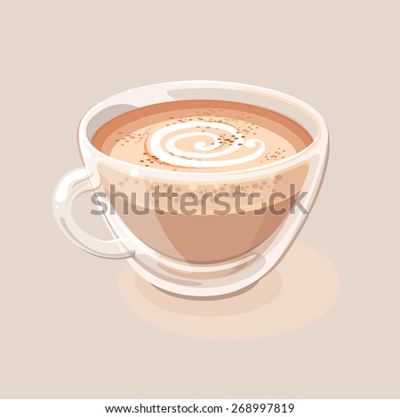 Cappuccino - stock vector