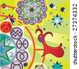 capricorn -  ground zodiac sign - stock vector