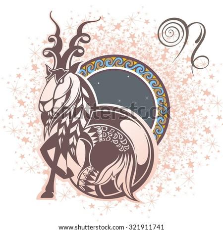 Capricorn. Zodiac sign - stock vector