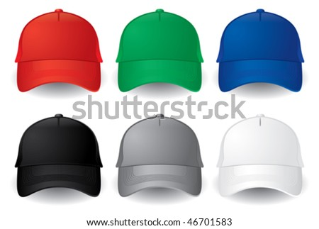 Caps. Baseball caps - stock vector