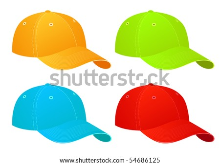 Caps, vector illustration - stock vector