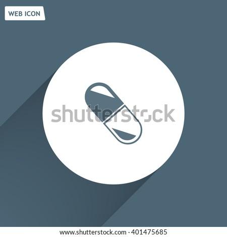 capsule vector icon - stock vector