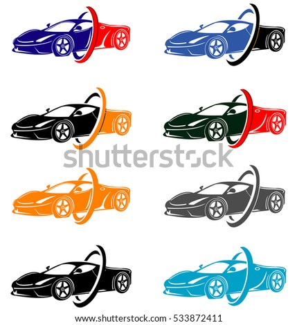 Superieur Car Abstract Design Concept Automotive Topics Vector Logo Design  Template