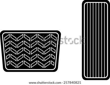 car accelerator and brake pedals symbol - stock vector