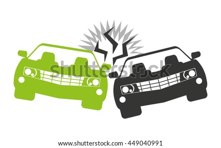 Car accident isolated icon design, vector illustration  graphic