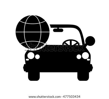 car earth globe diagram icon stock vector 477503434 shutterstock rh shutterstock com