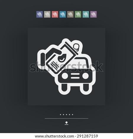 Car assistance - stock vector