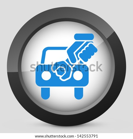 Car assistance icon - stock vector