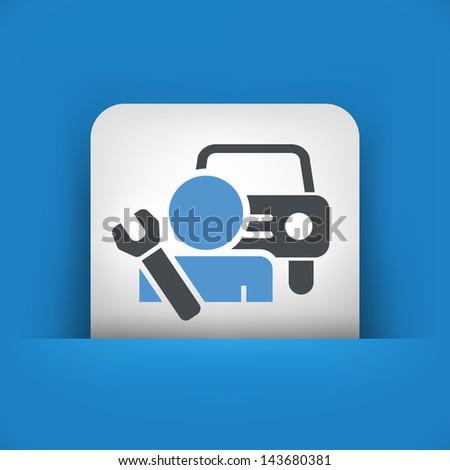 Car assistance icon concept - stock vector