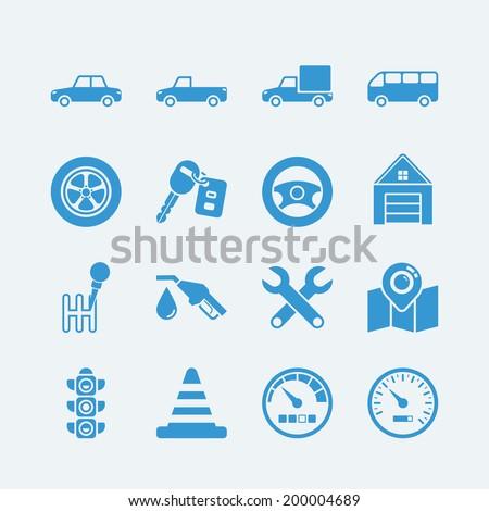 Car Auto icons set.Vector EPS10 - stock vector