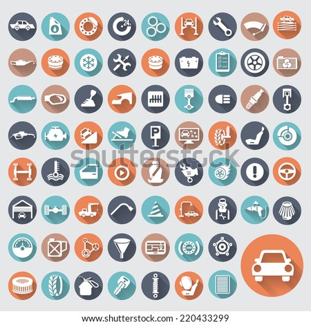 Car auto service icons set. - stock vector