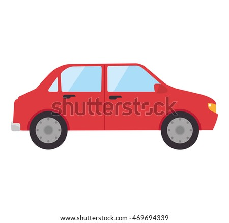 car automobile auto transport vehicle front icon vector illustration isolated