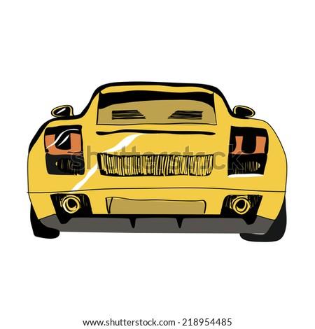 car back - stock vector