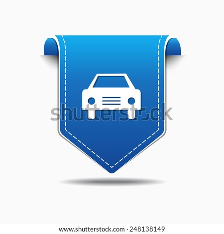 Car Blue Vector Icon Design