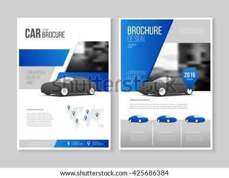 Car Brochure Auto Leaflet Brochure Flyer Stock Photo Photo Vector
