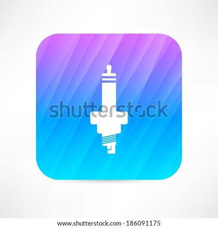 car candle icon - stock vector