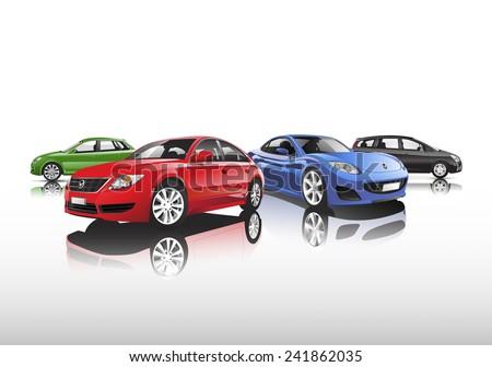 Car Collection - stock vector