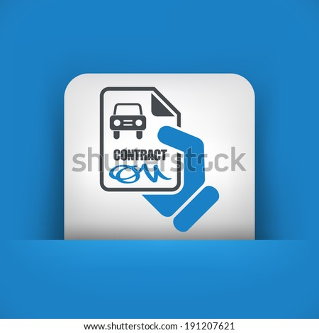 Car contract icon - stock vector