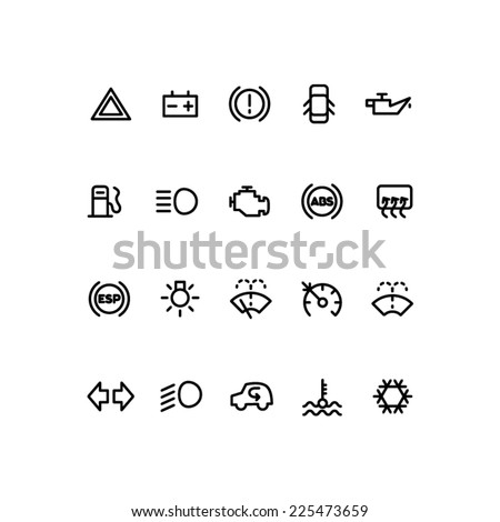 Car Alert Warning Symbols And Controls on alert automotive diagrams