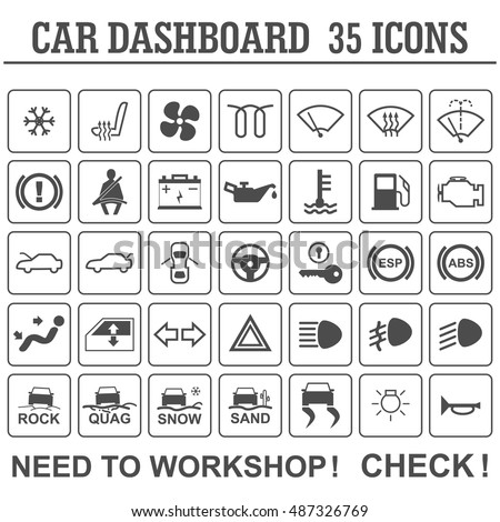 Dashboard Warning Lights Stock Images RoyaltyFree Images - Car signs on dashboard