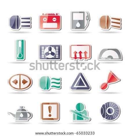 Dashboard Symbol Stock Images RoyaltyFree Images  Vectors - Car sign on dashboard