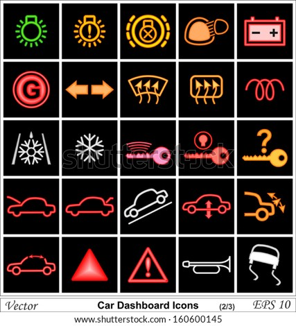 Car Dashboard Icons Stock Images RoyaltyFree Images  Vectors - Car image sign of dashboard
