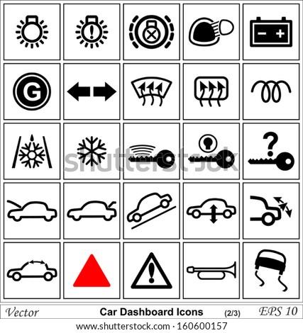 Car Dashboard Vector Icons Stock Vector Shutterstock - Car image sign of dashboardcar dashboard icons stock images royaltyfree imagesvectors