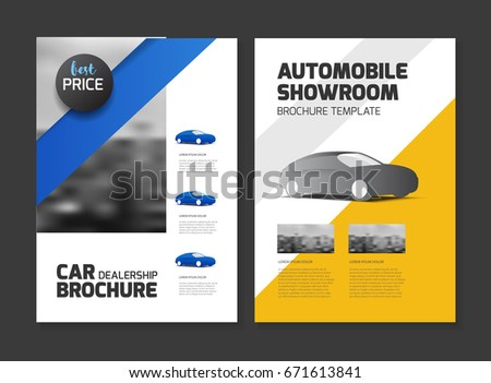 Cover design annual report business catalog stock vector for Automobile brochure design