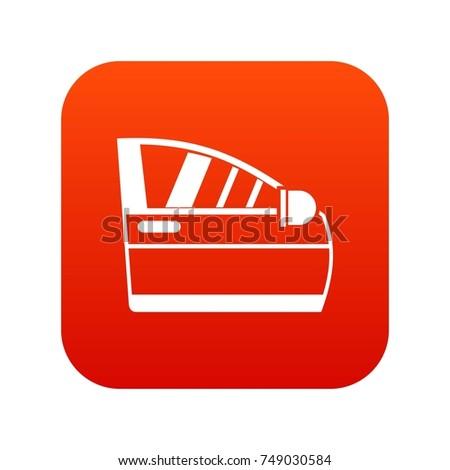 Car Door Icon Digital Red Any Stock Vector 749030584 Shutterstock