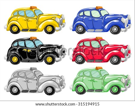 car, drawing, cartoon (vector)