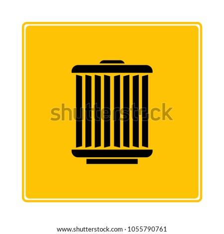 Car Engine Air Filter Symbol Yellow Stock Vector 1055790761