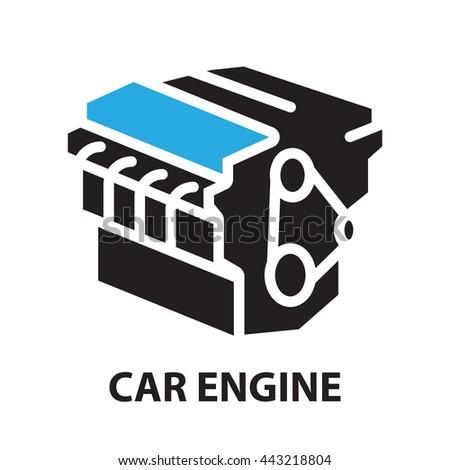 Car Engine Icon Symbol Stock Vector Hd Royalty Free 443218804